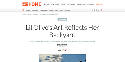 Local Artist Lil Olive featured in 417 home magazine